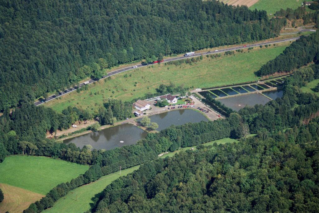 Luftbild Gersfeld Angelteiche